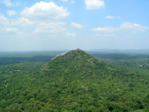 Udsigten fra Sigiryia klippen