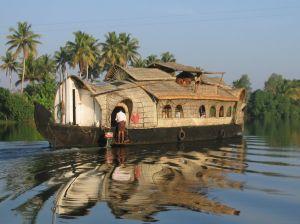 Husbåd på Keralas floder
