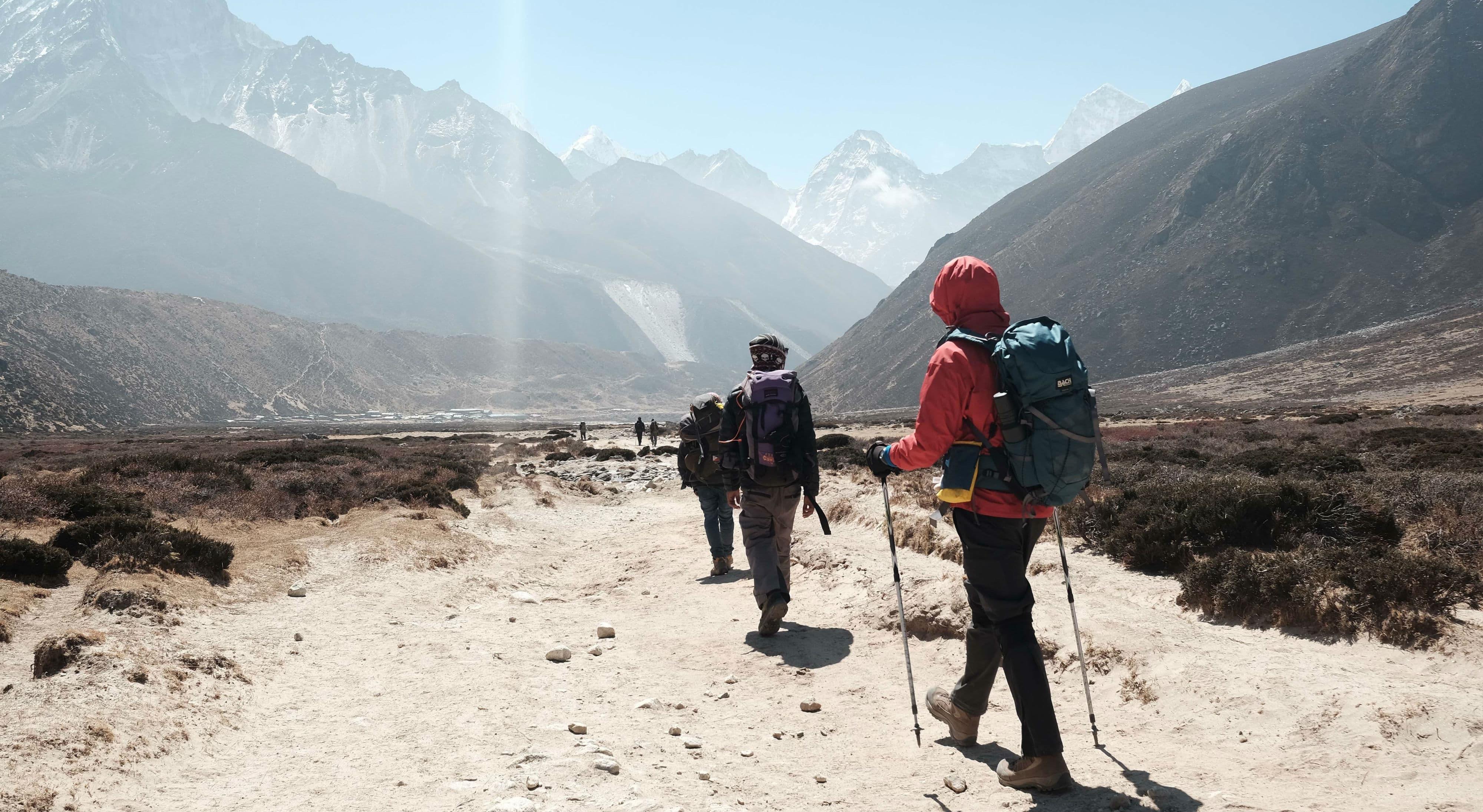 Tag på vandretur i Nepal